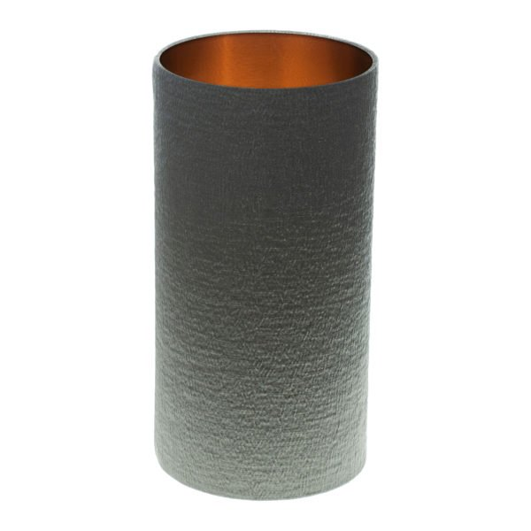Alchemy Slate Tall Drum Lampshade Brushed Copper Inner