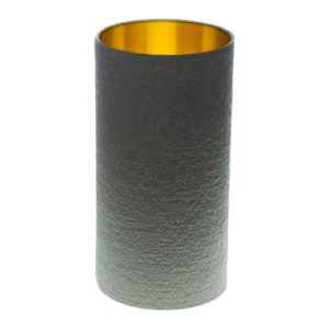 Alchemy Slate Tall Drum Lampshade Brushed Gold Inner