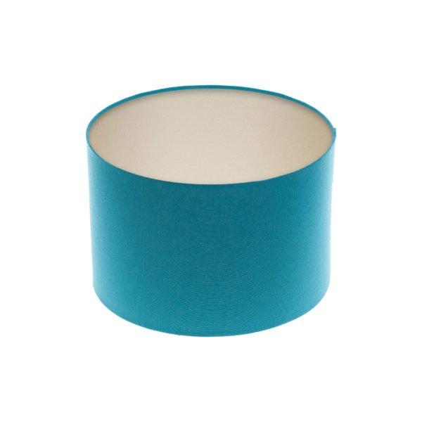 Aqua Blue Drum Lampshade Champagne Inner