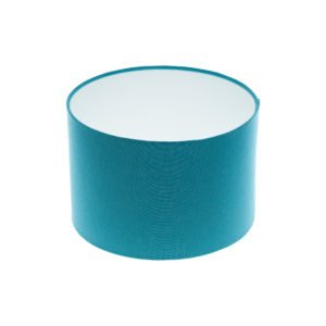 Aqua Blue Drum Lampshade