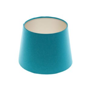 Aqua Blue French Drum Lampshade Champagne Inner