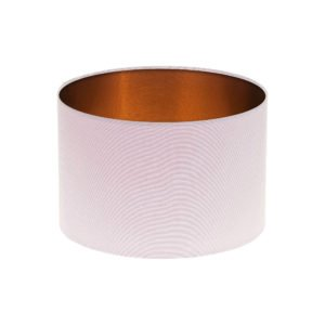 Baby Pink Drum Lampshade Brushed Copper Inner