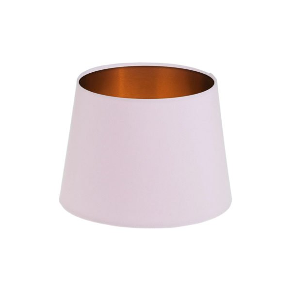 Baby Pink French Drum Lampshade Brushed Copper Inner