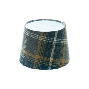 Balmoral Navy Blue Tartan French Drum Lampshade