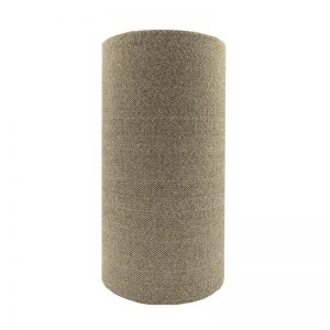 Beige Herringbone Tall Drum Lampshade