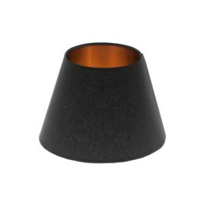 Black Empire Lampshade Brushed Copper Inner
