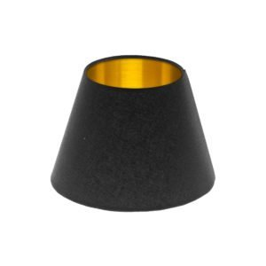 Black Empire Lampshade Brushed Gold Inner
