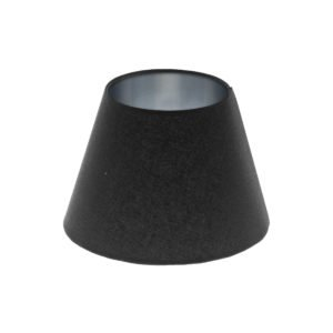 Black Empire Lampshade Brushed Silver Inner