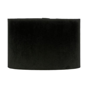 Voyage Black Velvet Drum Lampshade