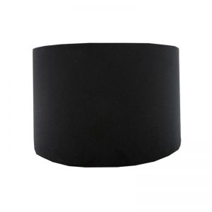 Black Velvet Drum Lampshade