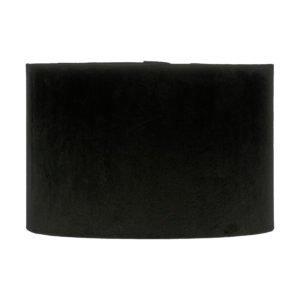 Black Velvet Drum Lampshade
