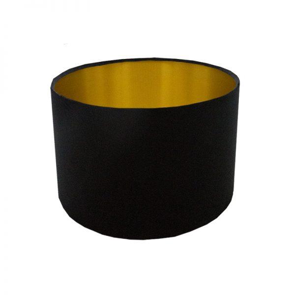 Voyage Black Velvet Drum Lampshade