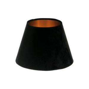 Black Velvet Empire Lampshade Brushed Copper Inner