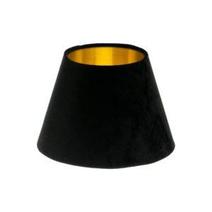 Black Velvet Empire Lampshade Brushed Gold Inner
