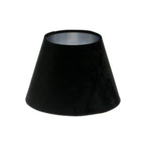Black Velvet Empire Lampshade Brushed Silver Inner