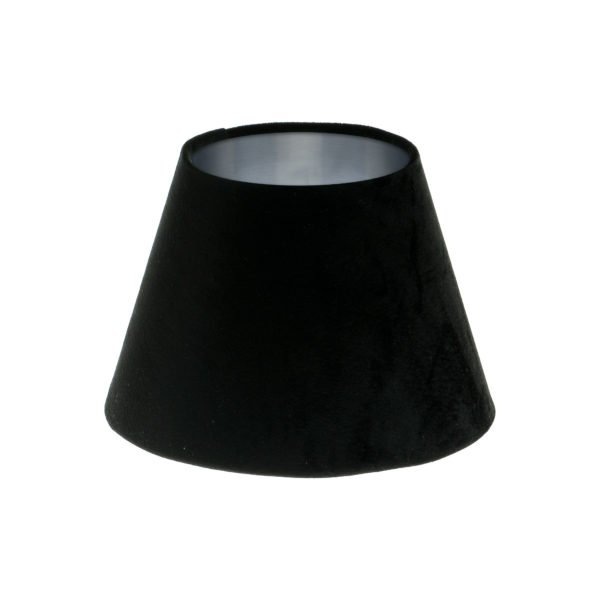 Black Velvet Empire Lampshade Brushed Silver Inner