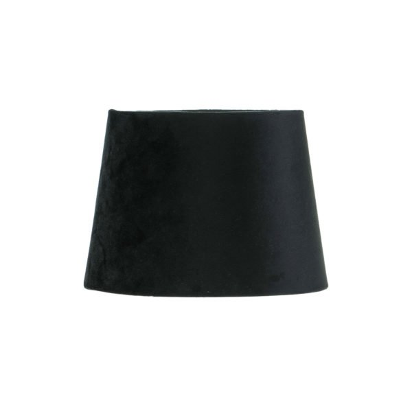Black Velvet French Drum Lampshade
