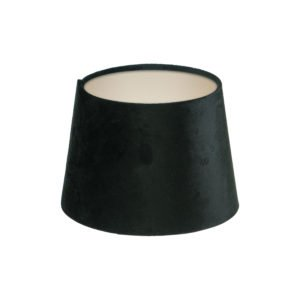 Black Velvet French Drum Lampshade Champagne Inner