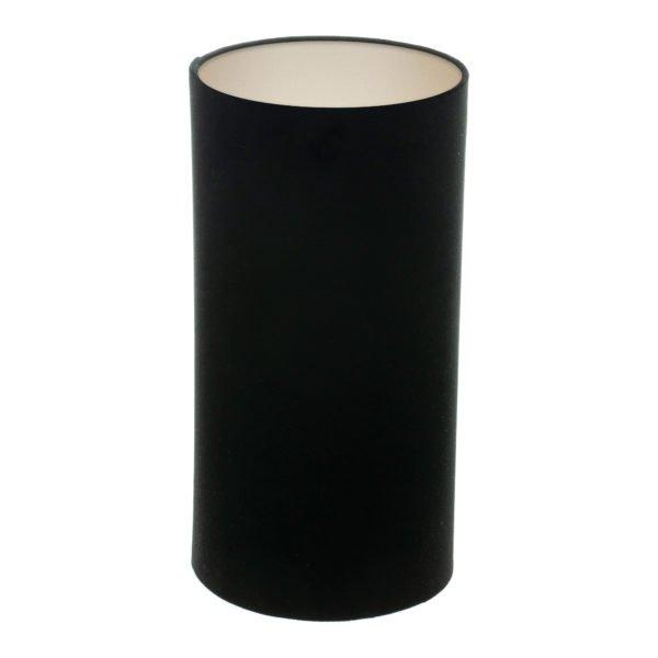Black Velvet Tall Drum Lampshade Champagne Inner