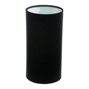 Black Velvet Tall Drum Lampshade