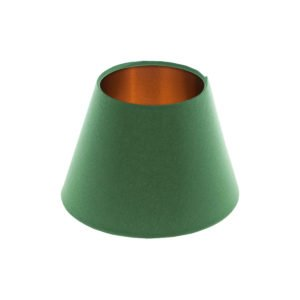 Dark Green Empire Lampshade Brushed Copper Inner