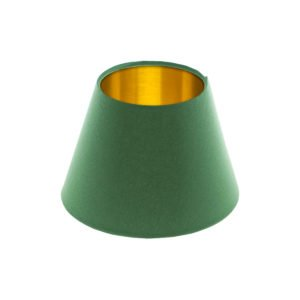 Dark Green Empire Lampshade Brushed Gold Inner