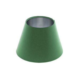 Dark Green Empire Lampshade Brushed Silver Inner