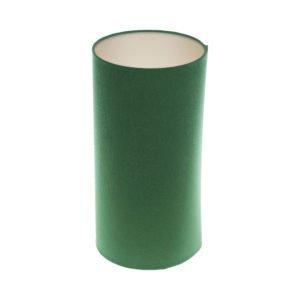 Dark Green Tall Drum Lampshade Champagne Inner