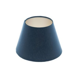 Bright Navy Blue Empire Lampshade Champagne Inner