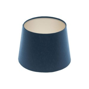Bright Navy Blue French Drum Lampshade Champagne Inner
