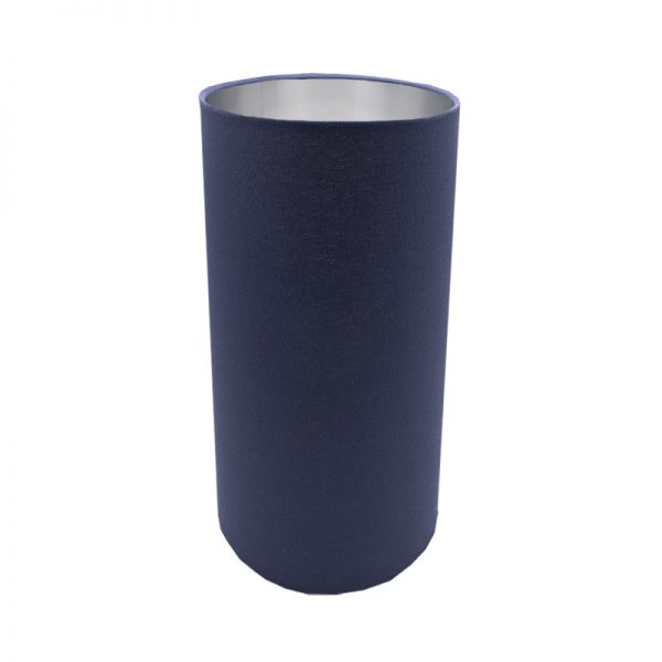 Bright Navy Blue Blue Tall Drum Lampshade