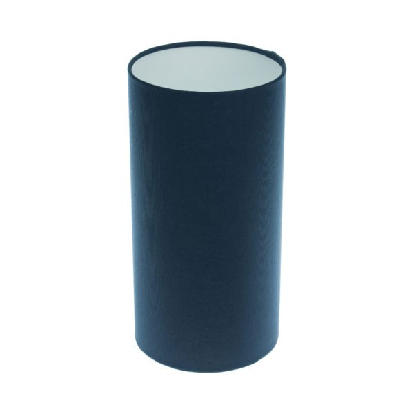 Bright Navy Blue Tall Drum Lampshade