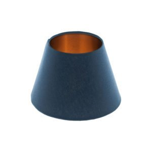 Bright Navy Blue Empire Lampshade Brushed Copper Inner