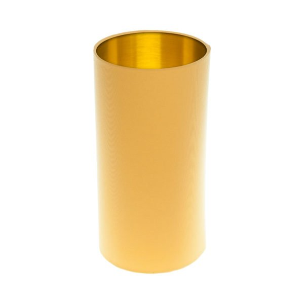 Bright Yellow Tall Drum Lampshade Brushed Gold Inner