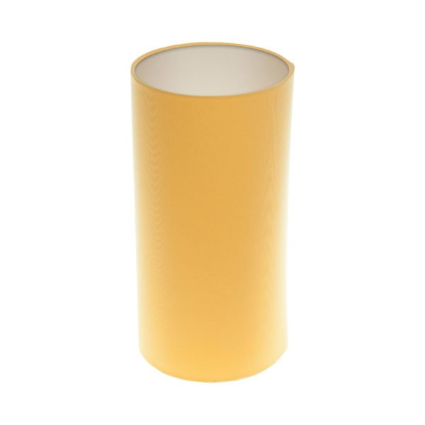 Bright Yellow Tall Drum Lampshade Champagne Inner