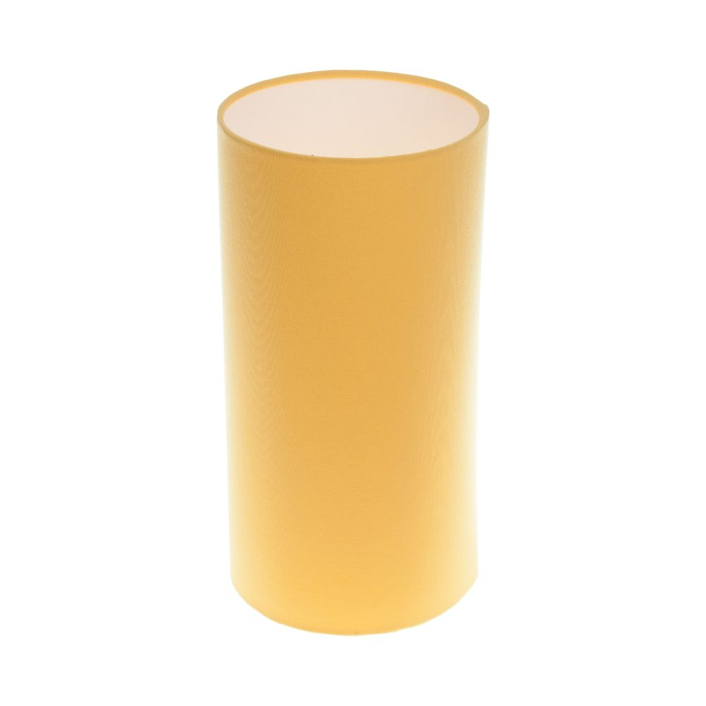 Bright Yellow Tall Drum Lampshade