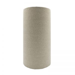 Cream Beige Herringbone Tall Drum Lampshade