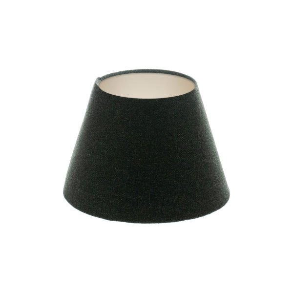 Dark Grey Wool Empire Lampshade Champagne Inner