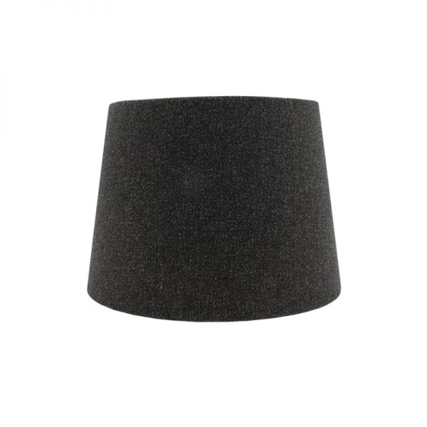 Dark Grey Wool French Drum Lampshade