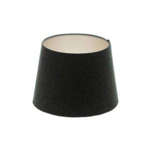 Dark Grey Wool French Drum Lampshade Champagne Inner