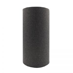 Dark Grey Wool Tall Drum Lampshade