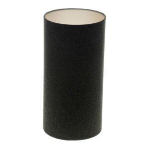 Dark Grey Wool Tall Drum Lampshade Champagne Inner