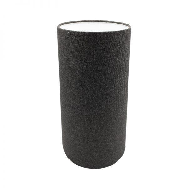 Dark Grey Wool Tall Drum Lampshade