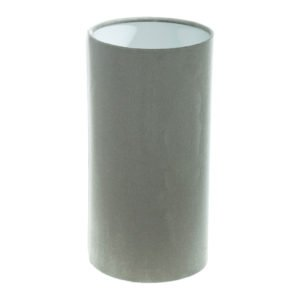 Dove Grey Velvet Tall Drum Lampshade