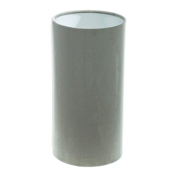 Dove Grey Velvet Tall Drum Lampshade