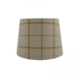 Exford Amber Tartan French Drum Lampshade