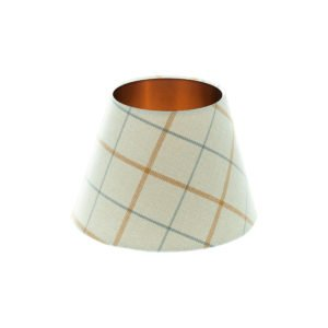 Exford Amber Tartan Empire Lampshade Brushed Copper Inner