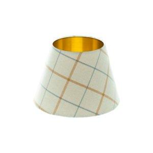 Exford Amber Tartan Empire Lampshade Brushed Gold Inner