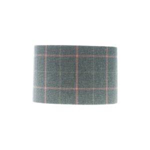 Exford Grey Pink Tartan Drum Lampshade