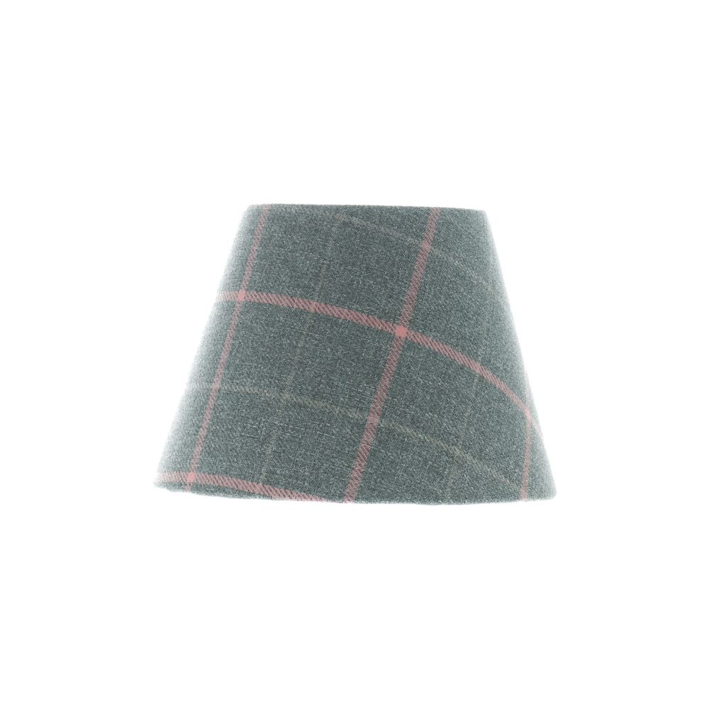 Exford Grey Pink Tartan Empire Lampshade